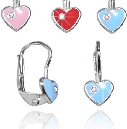 Srdíčka stříbrné náušnice BSG70315