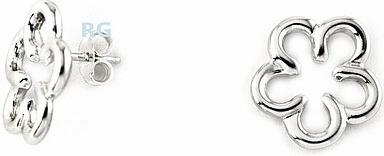 Stříbrné náušnice kytka BSG31104