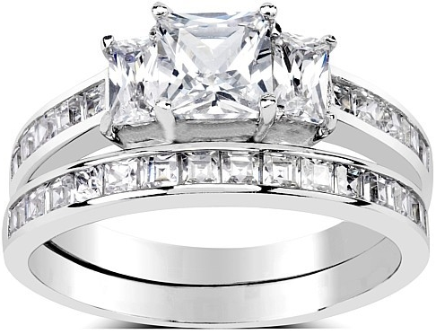 Silvego Dvojitý prsten ze stříbra se Swarovski Zirconia - SHZR0127