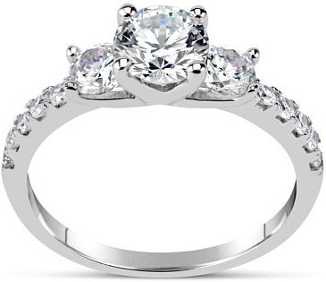 Silvego Zásnubní prsten CLAIRE ze stříbra se Swarovski Zirconia - SHZR301