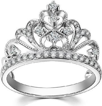 PRIA stříbrný prsten s čirými zirkony - SHZR1003