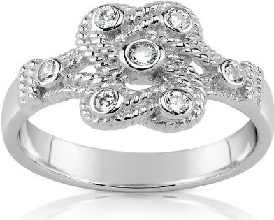 PRIA stříbrný prsten se zirkony - JJJR0811
