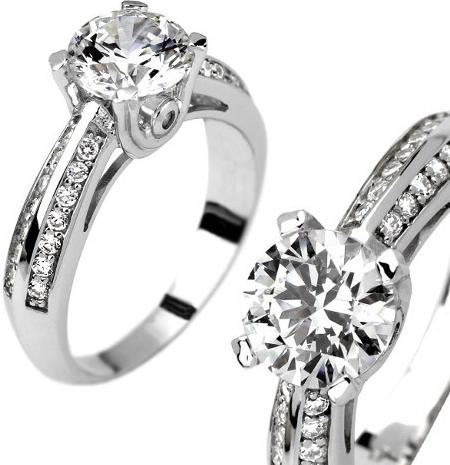 Stříbrný prsten PROELIO se Swarovski Zirconia - EWER02400