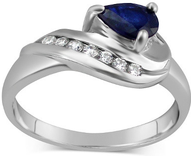 Stříbrný prsten VALERIA se Safírem - FNJR0105-SA