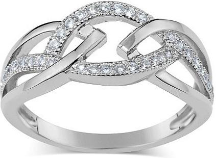 Prsten ELISA ze stříbra s micro zirconia - JJJR0222