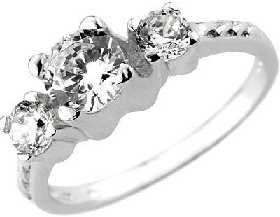 Zirkonový prsten VIA ze stříbra - JJJR0801