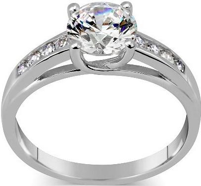 Stříbrný prsten EXCLUSIVE se Swarovski Zirconia - TWR902535