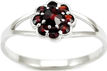 Silvego Stříbrný prsten s pravým granátem MARGUERITE - BSG280004