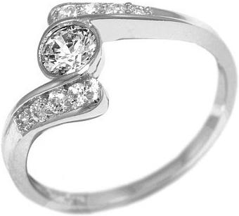 Stříbrný prsten ROSES se Swarovski Zirconia - SHZR001
