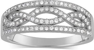Stříbrný prsten AIDA ze stříbra JJJR0120