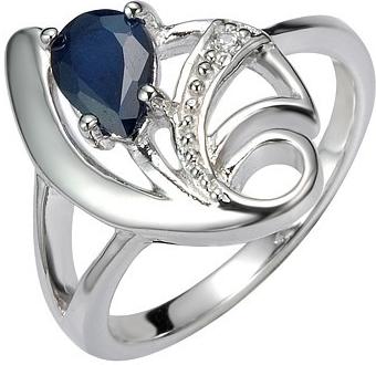 Stříbrný prsten s přírodním Safírem DESIRÉ - FNJR0673