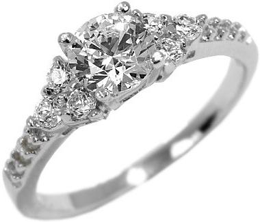 Stříbrný zásnubní prstýnek se Swarovski Zirkony - EWER02976