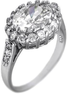 Luxusní stříbrný prsten se Swarovski Zirconia - JJSR4437