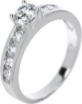 Dámský oblíbený stříbrný prsten se zirkony - JAL83L