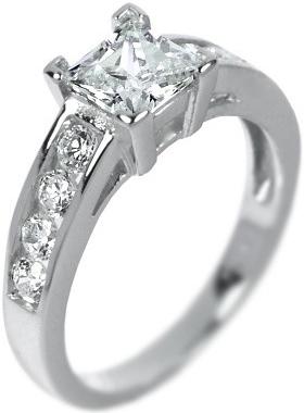 Výrazný elegantní stříbrný prsten se zirkony - JR0150