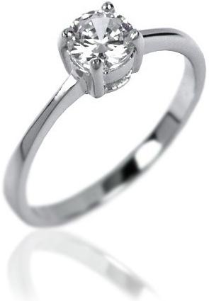 Klasický stříbrný prstýnek silvego se zirkonem JR0514