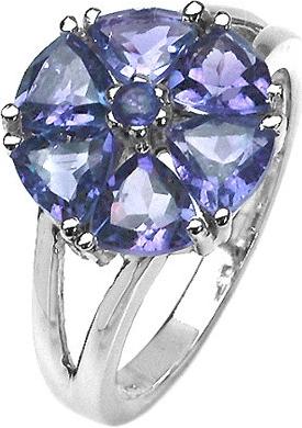 Dámský prsten s přírodním iolitem - RSG36051i