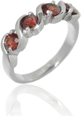 Elegantní prsten s pravým granátem 6mm - RSG36225G