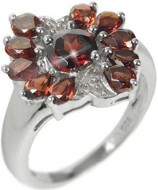 Stříbrný prsten s polodrahokamem Granát RSG36083G - RSG36083G