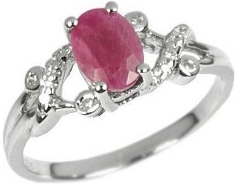 Stříbrný elegantní prsten s pravým Rubínem - JBR10