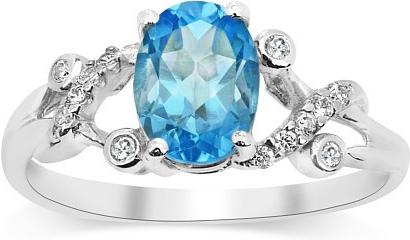 Gio Caratti stříbrný prsten s pravým Topazem JBR24