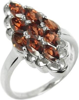 Stříbrný originální prsten přírodní granát RSG36352G