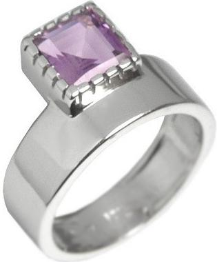 Stříbrný luxusní prsten Silvego s pravým ametystem RSG36208A