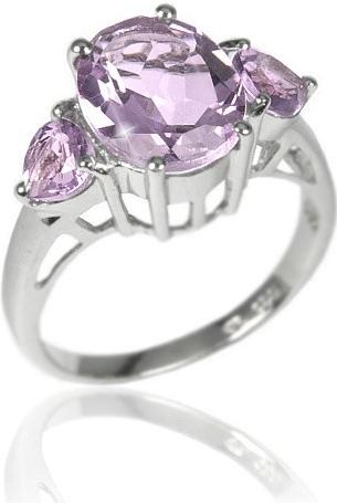 Originální stříbrný prsten s polodrahokamem Ametyst - RSG36204A