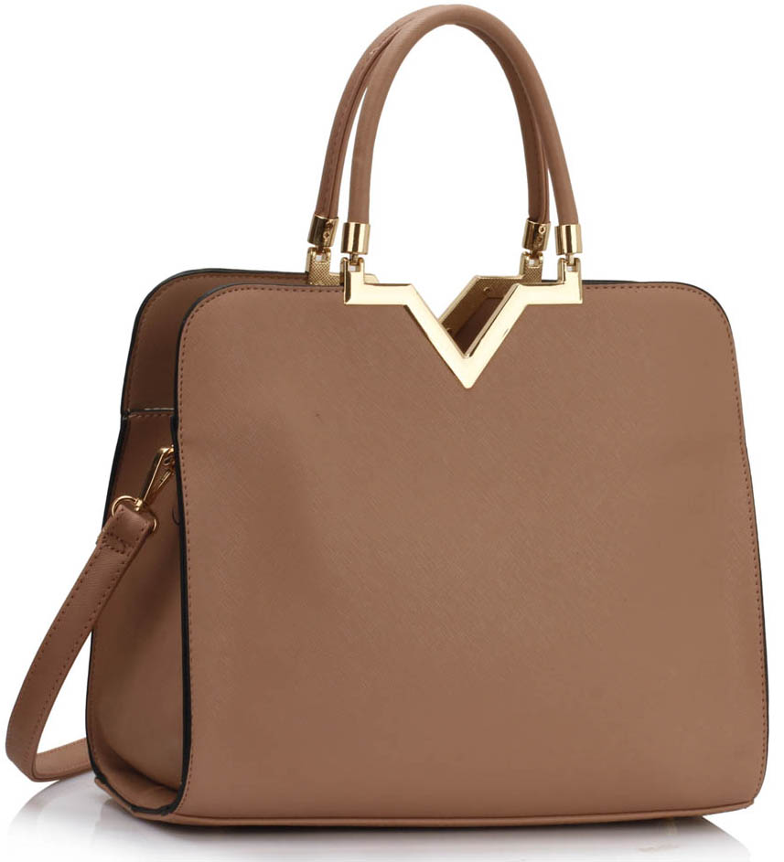 Kabelka LS00292A - Nude Metal Trim Grab Bag