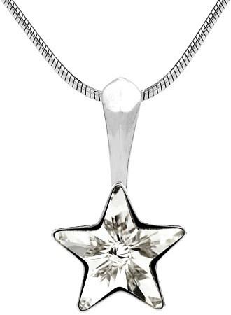 SILVEGO stříbrný přívěsek hvězdička s krystalem Swarovski - VSW008P