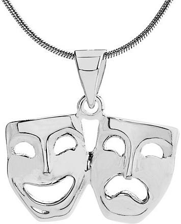 VESPER stříbrný přívěsek divadelní masky - ZTP48678