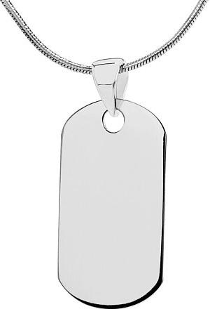 VESPER stříbrný přívěsek Dog Tag - ZTP1206163