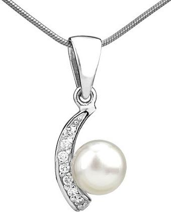 Stříbrný přívěsek ADELINA s bílou perlou - FNJP0608-PR