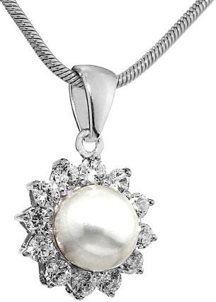 Stříbrný přívěsek s perlou LUCIA - FNJP0343-CZ
