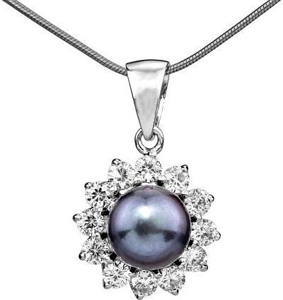 Silvego Stříbrný dámský přívěsek s perlou - FNJP0343-BP