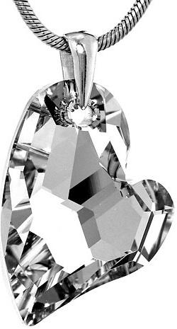 Stříbrný přívěsek Argent Heart 27mm se Swarovski Elements - LSW170P
