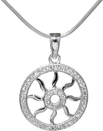 Přívěsek ze stříbra s micro zirconia - JJJP0138
