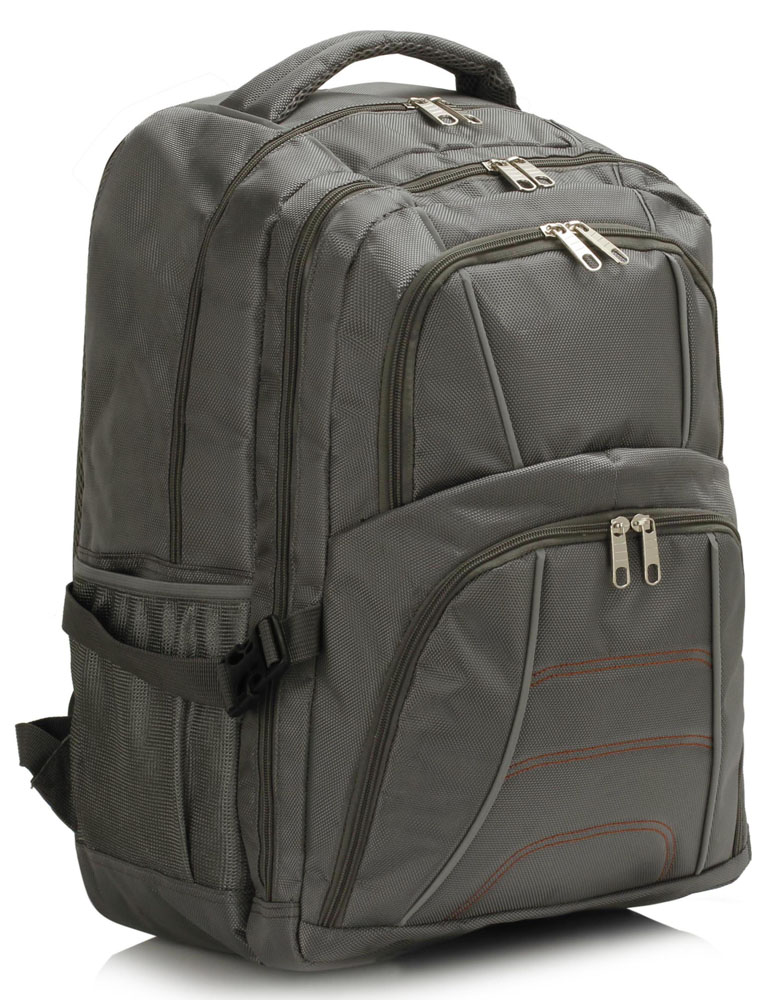 Batoh LS00444 - Grey Backpack Rucksack School Bag