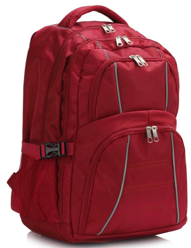 Batoh LS00444 - Red Backpack Rucksack School Bag