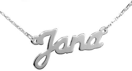 Silvego Stříbrný řetízek se jménem Jana - BSG60577-JAN