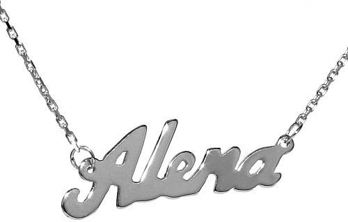 Stříbrný řetízek se jménem Alena - BSG60577-ALE
