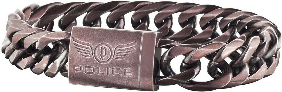 Náramek pánský z chirurgické oceli Police PJ25507BSEBR/2