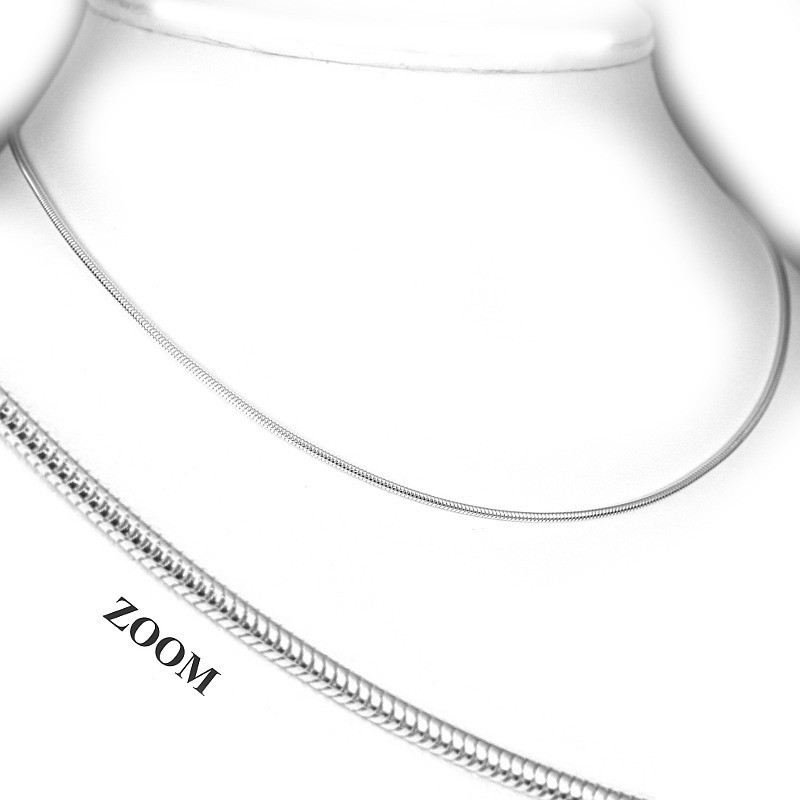 Stříbro - řetízek hádek 1,3mm - rhodiovaný