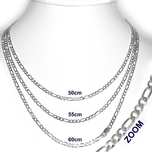 Stříbrný řetízek 4mm - Figaro 5703-100BG