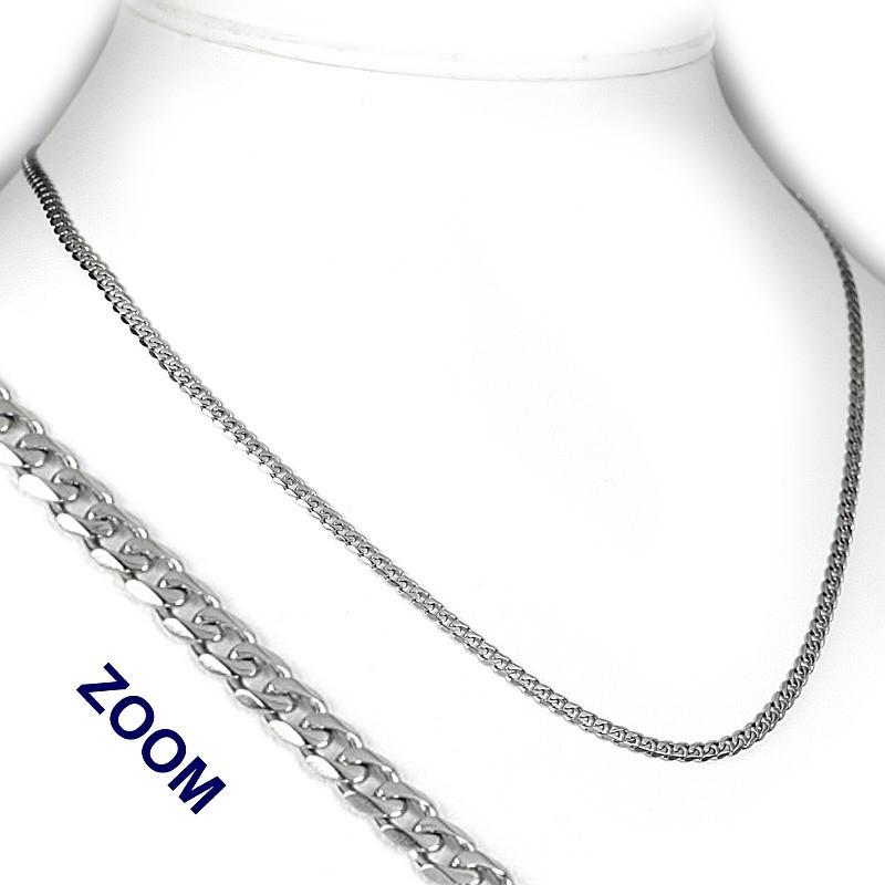 Stříbrný řetízek a náhrdelník - broušený Pancr 3 mm - TTT80GDN