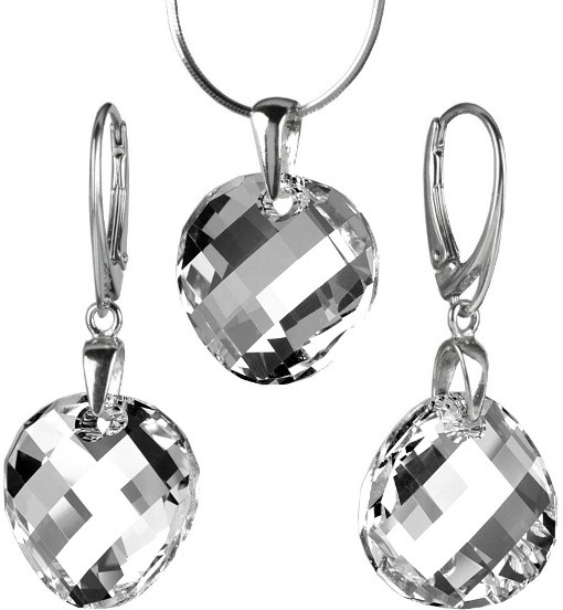 Stříbrný set Twist 18mm Argent se Swarovski Elements LSW163S