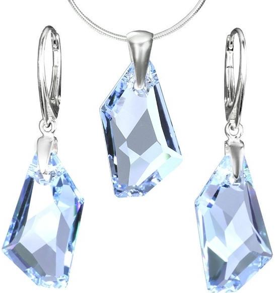 Stříbrný set De-Art Crystal Aquamarine vyroben se SWAROVSKI ELEMENTS LSW128s