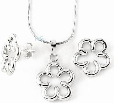 Stříbrné šperky - kytka BSG11051-31104