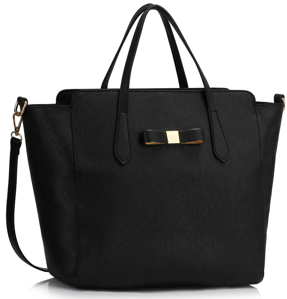 Kabelka LS00402 - Black Women's Large Tote Bag