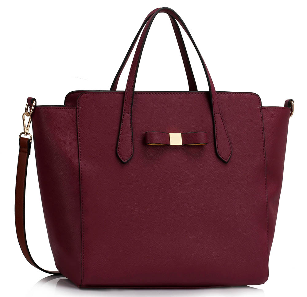 Kabelka LS00402 - Burgundy Women's Large Tote Bag